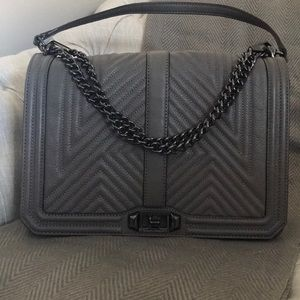 Graphite crossbody bag- Rebecca Minkoff